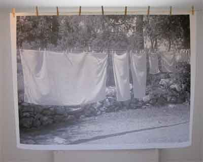 Hängande tvätt